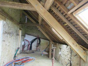 Modification de charpente chêne Sargé sur Braye Loir et Cher Vendôme 72 41 isolation