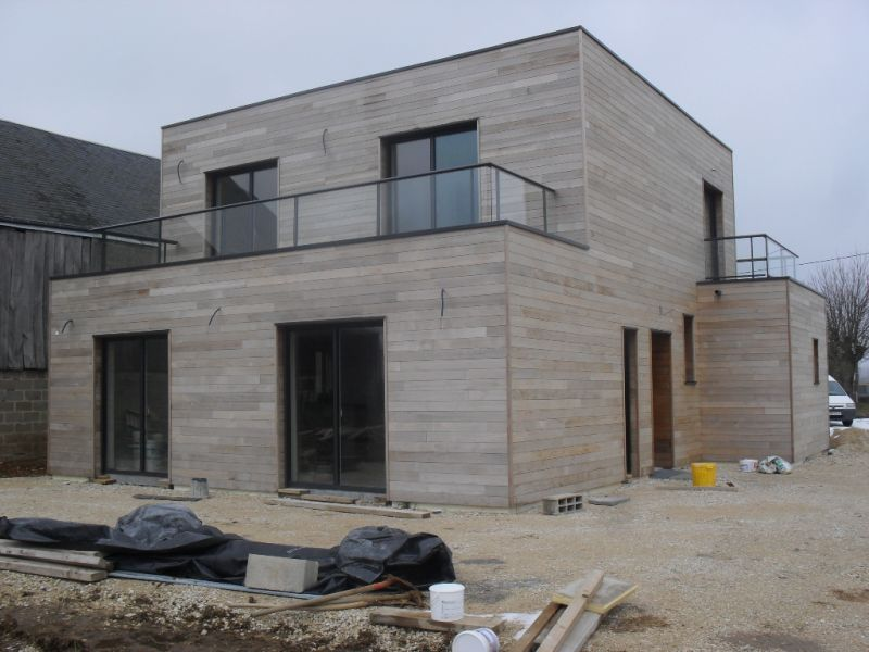 Extension construction modern house for Bois construction exterieur
