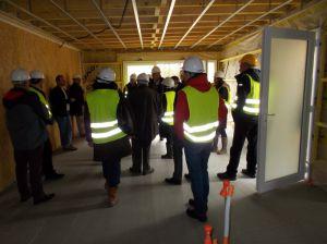 Après Val Touraine Habitat, nouvelle visite avec ARBOCENTRE sur le chantier à Reugny (37).
